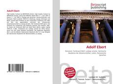 Bookcover of Adolf Ebert
