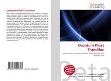 Quantum Phase Transition kitap kapağı