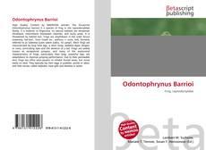 Couverture de Odontophrynus Barrioi