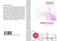 Portada del libro de Rafael Escalona
