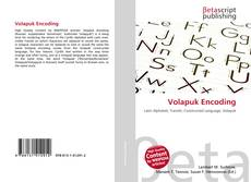 Bookcover of Volapuk Encoding