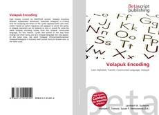 Volapuk Encoding kitap kapağı