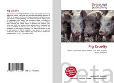 Bookcover of Pig Cruelty