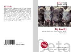 Capa do livro de Pig Cruelty