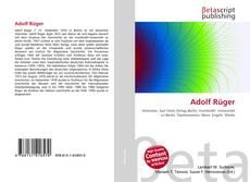 Buchcover von Adolf Rüger