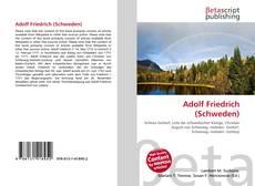 Bookcover of Adolf Friedrich (Schweden)