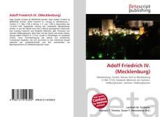 Buchcover von Adolf Friedrich IV. (Mecklenburg)