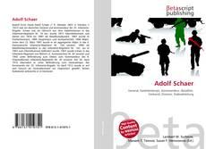 Buchcover von Adolf Schaer