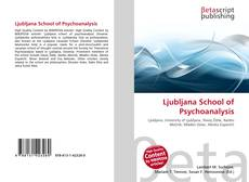 Bookcover of Ljubljana School of Psychoanalysis