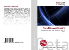 Bookcover of Yazid Ibn Abi Muslim