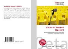 Votes for Women (Speech) kitap kapağı