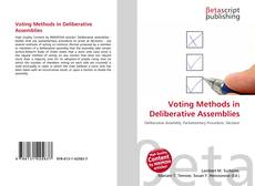Capa do livro de Voting Methods in Deliberative Assemblies