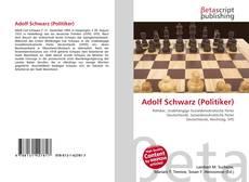 Buchcover von Adolf Schwarz (Politiker)
