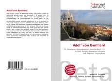 Bookcover of Adolf von Bomhard