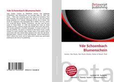 Обложка Yde Schoenbach Blumenschein