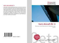 Buchcover von Van's Aircraft RV- 6
