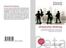 Capa do livro de Afrikanischer Weltkrieg