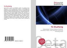 Capa do livro de Ye Duzheng
