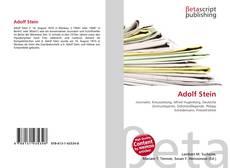 Bookcover of Adolf Stein