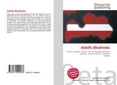 Adolfs Blodnieks kitap kapağı