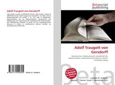 Copertina di Adolf Traugott von Gersdorff
