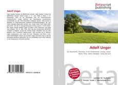 Portada del libro de Adolf Unger