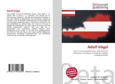 Adolf Vögel kitap kapağı