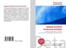 Couverture de Adolph Gottlieb Ferdinand Schoder