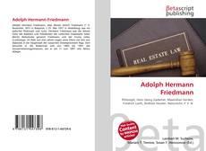 Bookcover of Adolph Hermann Friedmann