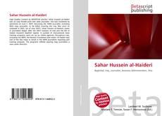 Capa do livro de Sahar Hussein al-Haideri