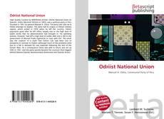 Portada del libro de Odriíst National Union
