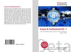 Buchcover von Evans & Sutherland ES- 1