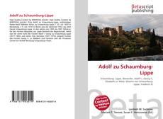 Bookcover of Adolf zu Schaumburg-Lippe