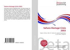 Sahara Hostage Crisis 2003 kitap kapağı