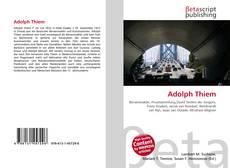 Buchcover von Adolph Thiem