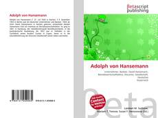 Couverture de Adolph von Hansemann