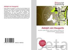 Adolph von Haugwitz的封面