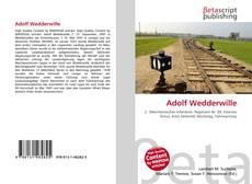 Buchcover von Adolf Wedderwille