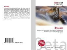 Couverture de Rhyolite