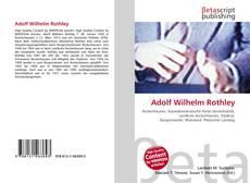 Adolf Wilhelm Rothley kitap kapağı