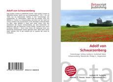 Bookcover of Adolf von Schwarzenberg