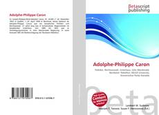 Bookcover of Adolphe-Philippe Caron