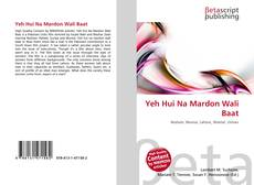 Portada del libro de Yeh Hui Na Mardon Wali Baat