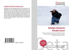 Bookcover of Adolph Diedrich Kindermann