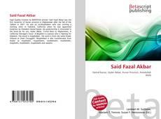 Bookcover of Said Fazal Akbar