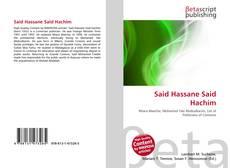 Said Hassane Said Hachim的封面