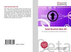 Couverture de Said Ibrahim Ben Ali