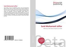 Bookcover of Said Mohamed Jaffar