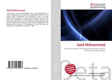 Bookcover of Said Mohammed