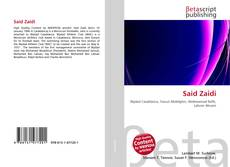Bookcover of Said Zaidi